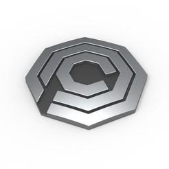 Descargar modelo 3D Emblema OCP imprimible en 3D de RoboCop, 3DTechDesign