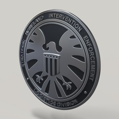 Imprimir en 3D Tarjeta de identificación de S.H.I.E.L.D., DmK