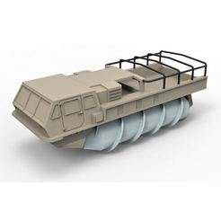 Download 3D print files Diecast model Screw terrain vehicle ZIL-4904 Scale 1:43, DmK