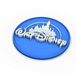 Imprimir en 3D Logotipo de Walt Disney imprimible en 3D, 3DTechDesign