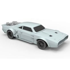 3D printer models Diecast model Ice Charger from the movie Fast 8 Scale 1:24, DmK