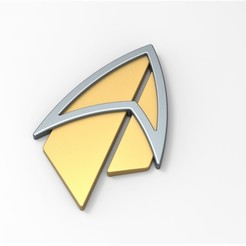 Download 3D print files Badge from Star Trek Picard, 3DTechDesign