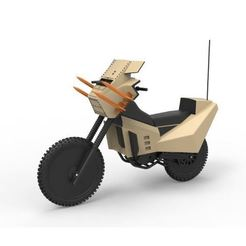 3D printer files Diecast model Military bike from the movie Megaforce 1982 Scale 1:12, DmK
