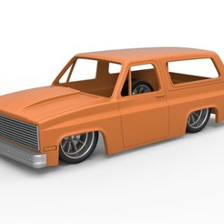 1.jpg Download STL file Diecast shell and wheels 1988 Chevrolet Blazer K5 Lowrider Scale 1 to 25 • 3D printing object, CosplayItemsRock