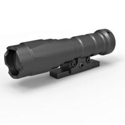 1.jpg Télécharger fichier STL Lampe de poche pour le blaster de cosplay • Objet à imprimer en 3D, 3DTechDesign