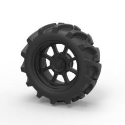Télécharger fichier 3D Roue moulée sous pression de camion de boue, 3DTechDesign