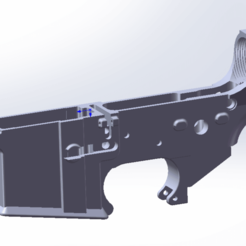 AR15_Lower.png Download STL file AR15/M4/M16 Receiver • 3D print design, Model_Lover