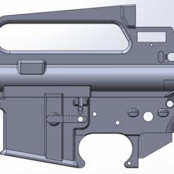 AR15 A2 2.png Download STL file AR15/M16A2 RECEIVER STL • 3D print object, Model_Lover