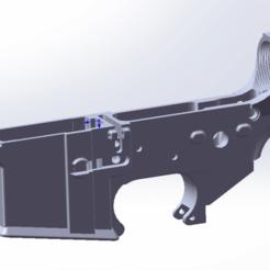 AR15_Lower.png Download STL file AR15/M4/M16 Receiver STL • 3D print model, Model_Lover