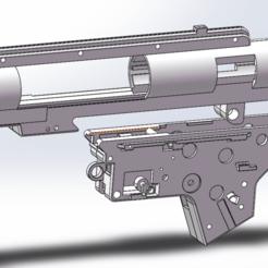 gearbox v2 split 5.png Download STL file AIRSOFT GEARBOX SPLIT V2 • Model to 3D print, Model_Lover