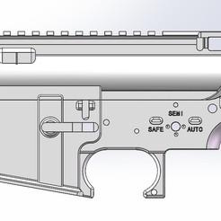 Download 3D printing files AIRSOFT AR15/M4 RECEIVER, lzycc234