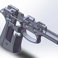 frame 2.png Download free STL file Beretta 92 PISTOL FRAME • 3D printing template, Model_Lover