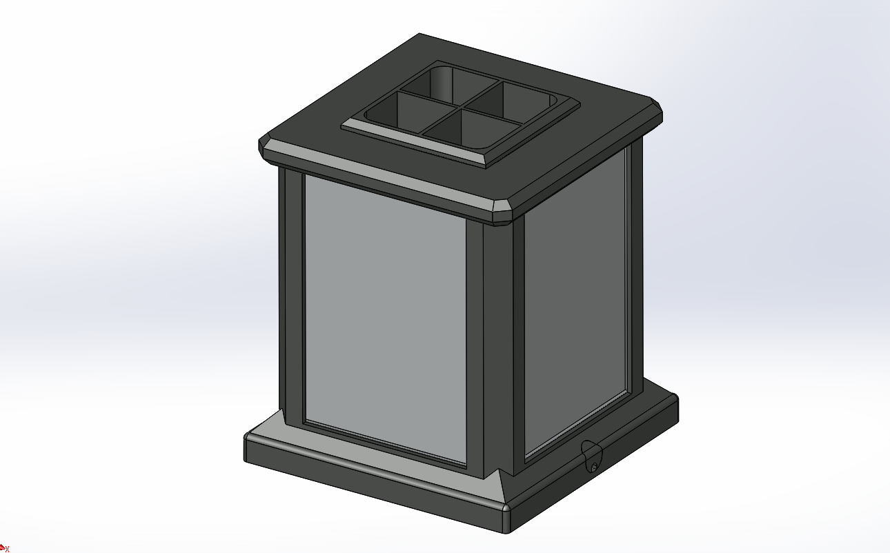 Image1.png Download free STL file Lithophane Light Box Desktop Organizer Pencil • 3D print object, HoytDesign