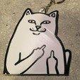 Download free STL file RipNDip Cat, Lord Nermal, Keychain, • 3D printing model, HoytDesign