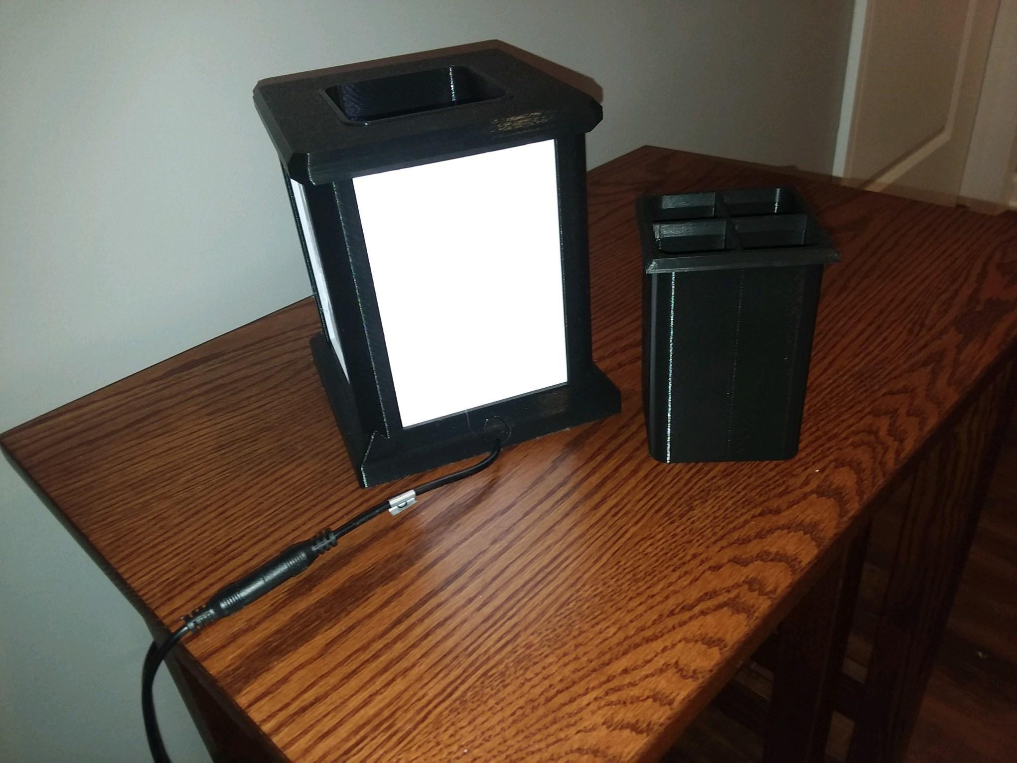 Photo_Jan_29_6_18_08_PM.jpg Download free STL file Lithophane Light Box Desktop Organizer Pencil • 3D print object, HoytDesign