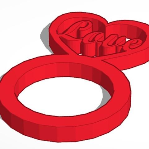 3D print files Heart Ring 1-Set, soaringbear00678