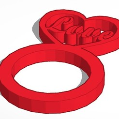 3D print files Heart Ring 1-Set, soaringbear00678