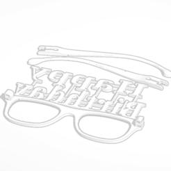 Télécharger fichier impression 3D Lunettes d'anniversaire Happy Birthday, soaringbear00678