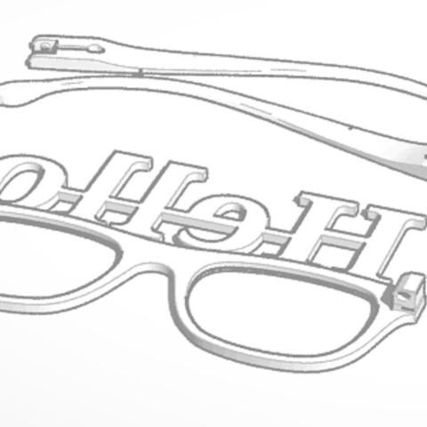 Download 3D printing models Hello Glasses, soaringbear00678
