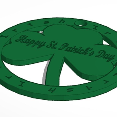 Plan imprimante 3D Happy Saint Patrick's Day Porte-clés, soaringbear00678