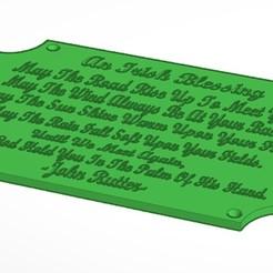 Télécharger fichier imprimante 3D Irish Blessing Plack, soaringbear00678