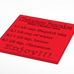 STL files Cinnamon Pancake Recipe Card, soaringbear00678