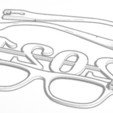 Download 3D printing designs 2021 Newyears Glasses , soaringbear00678
