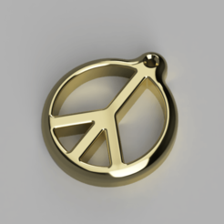 Peace_Keychain.png Download free STL file Peace Keychain • 3D printing model, ryanwebster0