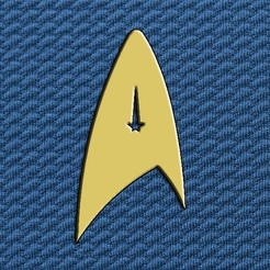 Descargar archivos 3D gratis Insignia Star Trek OFICIAL, LeFleuRZ33