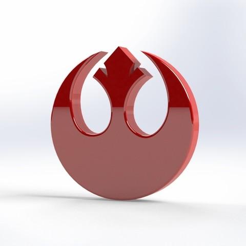 Descargar diseños 3D gratis Logotipo Stars Wars REBELDES, LeFleuRZ33