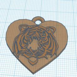 Télécharger objet 3D gratuit boucle d'oreille de tigre, andresterradas