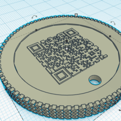 Download free 3D print files DOG PENDANT WITH CODE QR, andresterradas