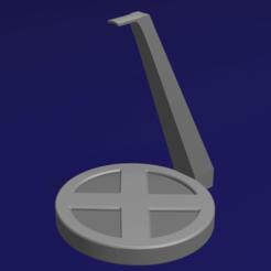 Posa Auriculares X-MEN con Base.png Télécharger fichier STL Support / casque X-MEN • Modèle à imprimer en 3D, YoSoyBaro