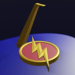 Posa Auriculares Flash con Base.png Télécharger fichier STL Flash sur le stand/écouteurs • Plan pour impression 3D, YoSoyBaro