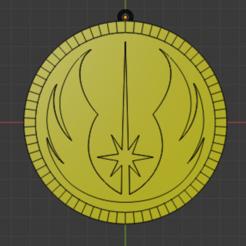 Orden Jedi Frontal.PNG Télécharger fichier STL gratuit Porte-clés Jedi Order - Star Wars • Modèle pour imprimante 3D, YoSoyBaro