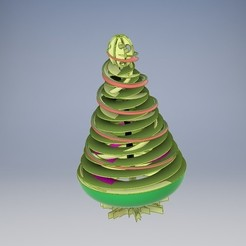 Download STL file Coil Christmas Tree, ser860