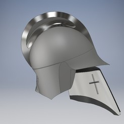 Download 3D printing templates Medieval helmet,  Epic Helmet ,  Medieval Collectibles, ser860