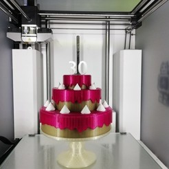 3D printing model Birthday cake, Rudddy