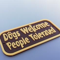 Dogs.jpg Télécharger fichier STL Chiens bienvenus • Plan pour imprimante 3D, Rudddy