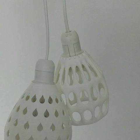 Download free 3D printing designs 2 lampshades for an E14 fitting, Rudddy