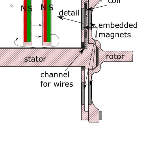 Zeichnung.png Download free STL file basic electric generator • 3D printable design, lukeskymuh
