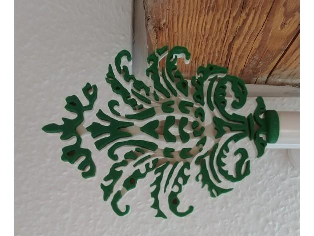 curtainrod.jpg Download free STL file curtain rod ornament • 3D print object, lukeskymuh