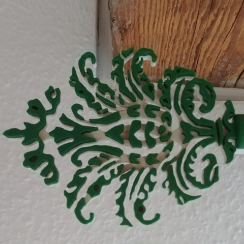 Free 3D printer designs curtain rod ornament, lukeskymuh