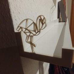 Download free 3D printer files Flamingo-end-cap for Ikea riba picture ledge, lukeskymuh