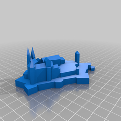 Download free 3D printer files Castle Hohenzollern, lukeskymuh