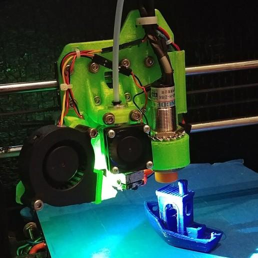 Download free 3D model Lukestruder - The E3D V6 bowden mount for prusa i3 (Anet A8), lukeskymuh