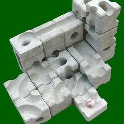 20190901_160442_green.jpg Download STL file Concrete marble run mould - Basic Set • 3D printer template, lukeskymuh