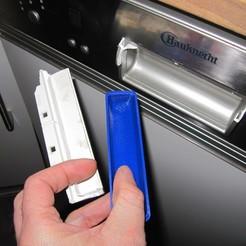 IMG_0690.JPG Télécharger fichier STL gratuit Réparation de la poignée du lave-vaisselle Bauknecht GSIK 6583 • Objet à imprimer en 3D, lukeskymuh
