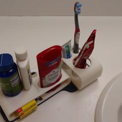 STL file Bathroom Organizer Set, PDKraken