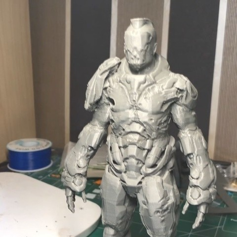 15ba8a2a94d4feba5c340d00d32b99a8_display_large.jpg Download free STL file Visor Statue (Quake Champions) • 3D printer template, indigo4